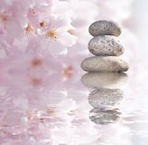 Zen buddhist stones  Royalty Free Stock Image