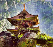 Zen Buddhist temple Stock Photo