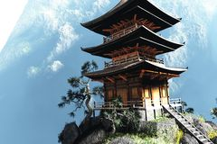 Zen Buddhist temple Royalty Free Stock Image