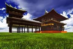 Zen buddhist temple Stock Images