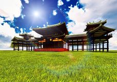 Zen buddhist temple Stock Image