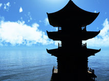 Zen buddhist temple Royalty Free Stock Photos