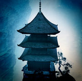 Zen buddhist temple in  mountains Royalty Free Stock Photography