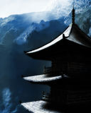 Zen buddhist temple in the mountains Royalty Free Stock Photos