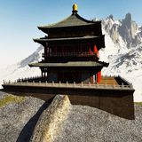 Zen buddhist temple Royalty Free Stock Photo