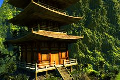 Zen buddhist temple Stock Photos