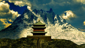 Zen buddhist temple in the mountains Stock Photos