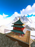 Zen buddhist temple in the mountains Royalty Free Stock Images