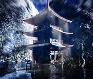 Zen buddhist temple in the mountains Royalty Free Stock Image