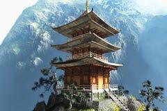 Zen buddyjska świątynia ilustracji