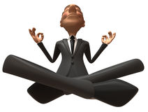 Zen businessman Royalty Free Stock Photography