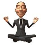 Zen businessman Stock Photo