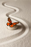Zen butterfly Stock Photography