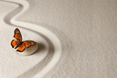 Zen butterfly Royalty Free Stock Image