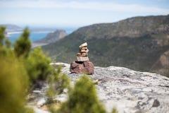 Zen calmo das rochas da montanha fotografia de stock