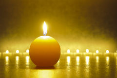 Zen with candle light Royalty Free Stock Image