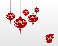 Zen chinese lamps illustration background Royalty Free Stock Images