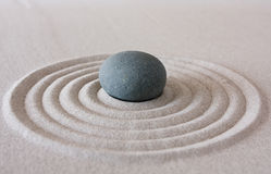 Zen circle. Close up of formal zen garden feature Stock Images