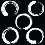 Zen Circle Brush Set. Black and White. Vector Illustration Royalty Free Stock Photography