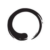 Zen Circle Logo Hand Drawn Shape. Brush Royalty Free Stock Photography