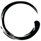 Zen Circle Paint Brush Stroke-Vector Stock Foto