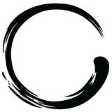 Zen Circle Paint Brush Stroke-Vektor Stockfoto