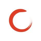 Zen Circle Vector Illustration rosso Immagini Stock Libere da Diritti