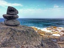 Zen circles near the atlantic ocean Royalty Free Stock Image