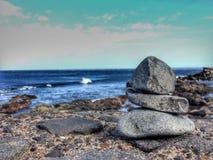 Zen circles near the atlantic ocean Royalty Free Stock Photos