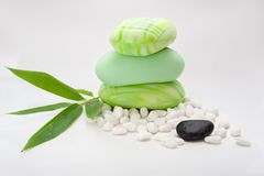 Zen composition with soap Royalty Free Stock Photos