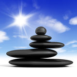 Zen concept. With balanced rocks and blue sky Stock Photography