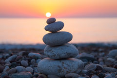 Zen concept with balanced rocks Royalty Free Stock Photo