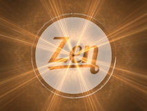 Zen. Concept of spirituality, harmony and philosophy of life. Background illustration with high detail Stock Image