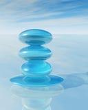 Zen crystal pile Royalty Free Stock Image