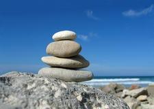 Zen da praia imagens de stock royalty free