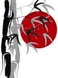 Zen de bambú caligráfico ilustración del vector