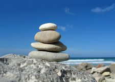 Zen de la playa imágenes de archivo libres de regalías