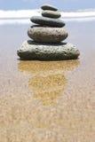 Zen della spiaggia fotografia stock libera da diritti