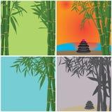 Zen di bambù della stazione termale della carta Fotografie Stock