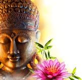 Zen di Buddha della statua Immagini Stock