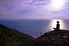Zen di primo mattino nel picco Fotografie Stock Libere da Diritti