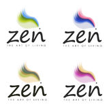 Zen die Lebenskunst-Entwürfe Stockfoto