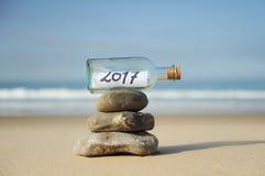 Zen do ano 2017 novo feliz Imagens de Stock