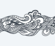 Zen-doodle or Zen-tangle texture or pattern  black on white Stock Photography
