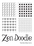 Zen Doodles Royalty Free Stock Photography