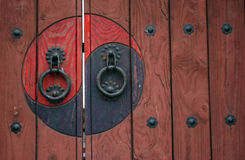 Zen door. Traditional Korean door Stock Photography