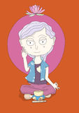 Zen dziewczyny medytacja Obrazy Stock