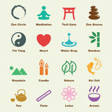 Zen elements. Vector infographic icons Royalty Free Stock Photography