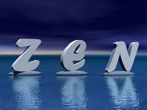 Zen em a noite Imagens de Stock