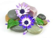 Zen entsteint Badekurort mit Blumen Lizenzfreies Stockfoto